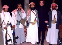 With Sheikh bin Shajea in northern Yemen, 2000